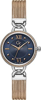 Gc Womens Quartz Watch, Analog Display And Stainless Steel Strap - Y67002L7MF