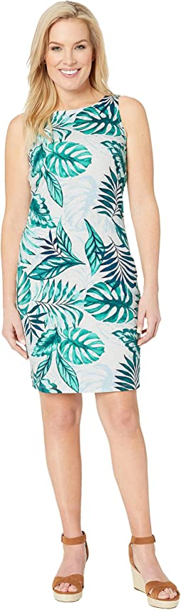 Mo'Orea Monstera Sheath Dress