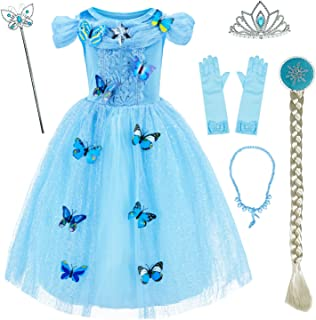 Princess Cinderella Costume Girls Dress Up with Accessories 3-10 Years
