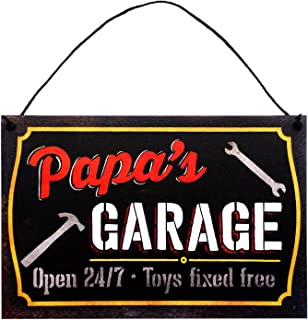 Grandfather's Garage Sign by StudioR12 | 7.5