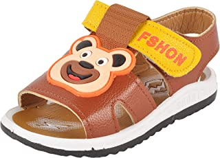Yellow Bee Bear Sandals for Boys, Brown