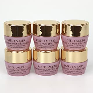Pack of 6 x Estee Lauder Resilience Multi-Effect Night Tri-Peptide Face & Neck Creme 0.24 oz each Unboxed