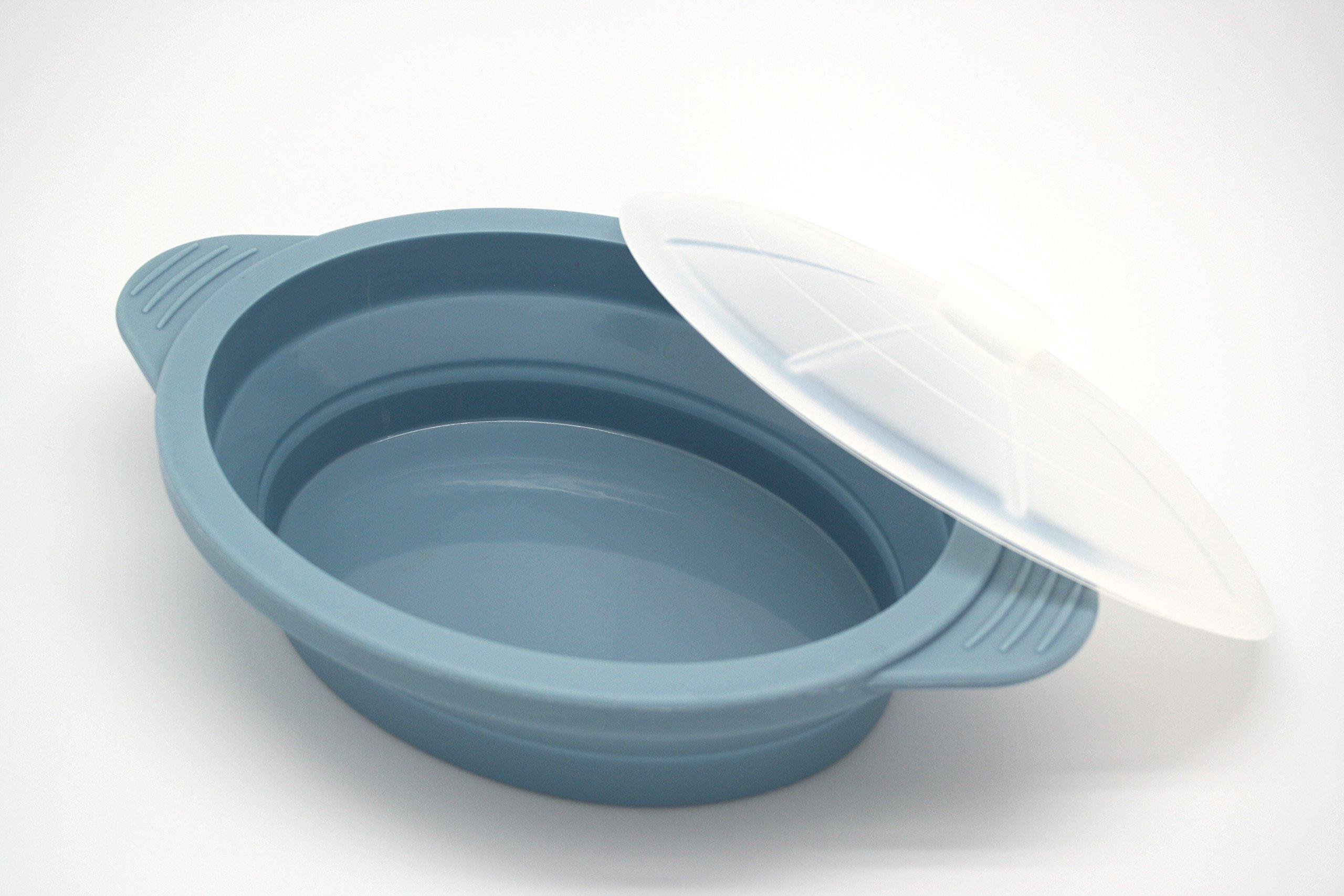 Olla Microondas de Silicona, Color Azul: Amazon.es: Hogar