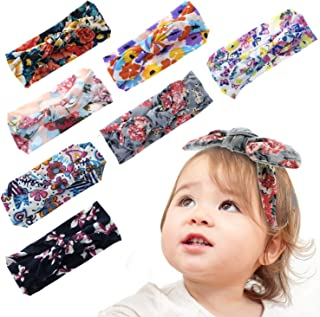 (0-6 years) Baby Girl Headbands Stretchy Knot, Girl's Turban Hairbands for Newborn,Toddler,Infant and Children