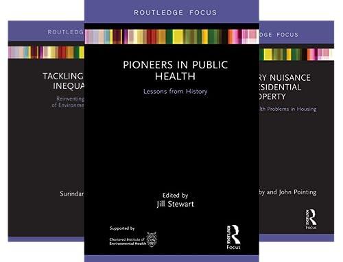 Routledge Focus on Environmental Health (8 Book Series)