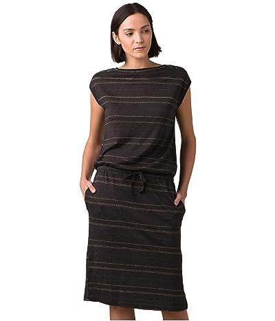 Prana Caris Cozy Up Dress (Nocturnal Heather Stripe) Women