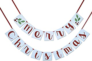 Merry Christmas Banner - Sign, Garland, Bunting - Christmas Decoration