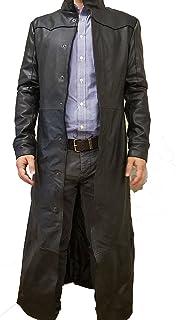 cappotto in vera pelle stile vittoriano uomo
