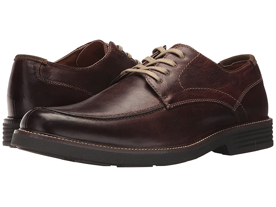 Dockers Midway Moc Toe Oxford (Red/Brown Waxy Distressed Burnished Full Grain) Men