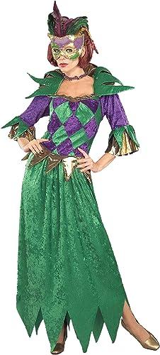 saludable Forum Novelties 125210 Mardi Gras Madness Madness Madness traje adulto - verde - est-ndar de un tama-o  grandes precios de descuento