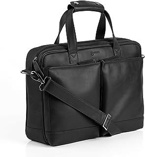 BACCINI Laptoptasche echt Leder Marco groß Businesstasche Umhängetasche Aktentasche Laptopfach 15.6 Ledertasche Herren schwarz