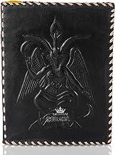 Leather Journal anteckningsbok A5 präglad Baphomet Lord of Satan handgjord resedagbok med ofodrat papper för att skriva oc...