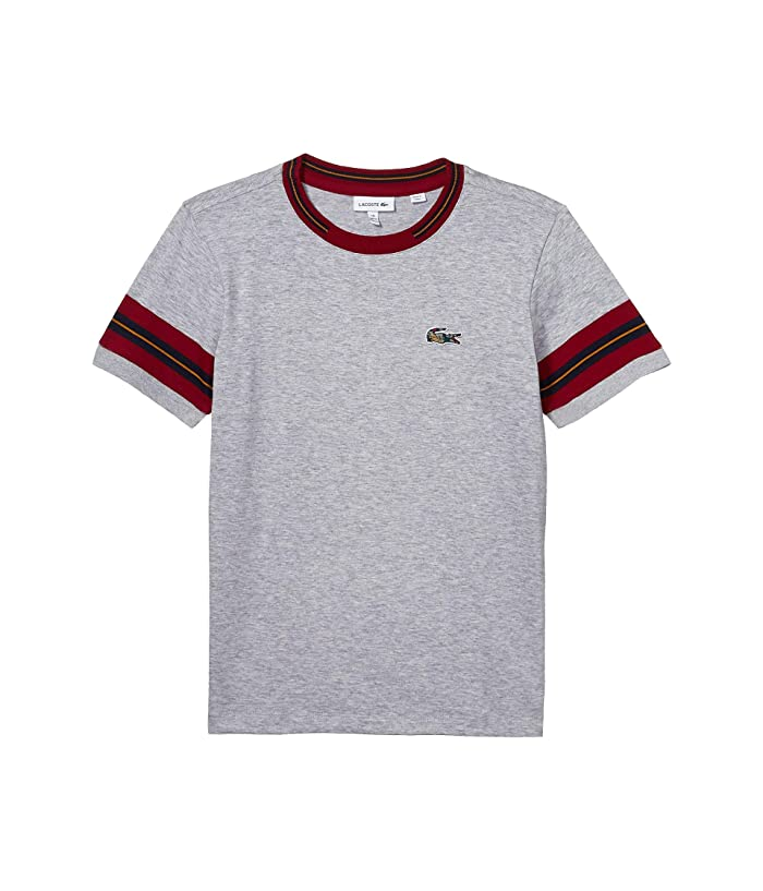Lacoste Boy Short Sleeve Wording Print Tee Shirt