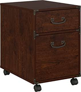 kathy ireland Home by Bush Furniture KI50202-03 Ironworks 2 Drawer Mobile File Cabinet in Coastal Cherry