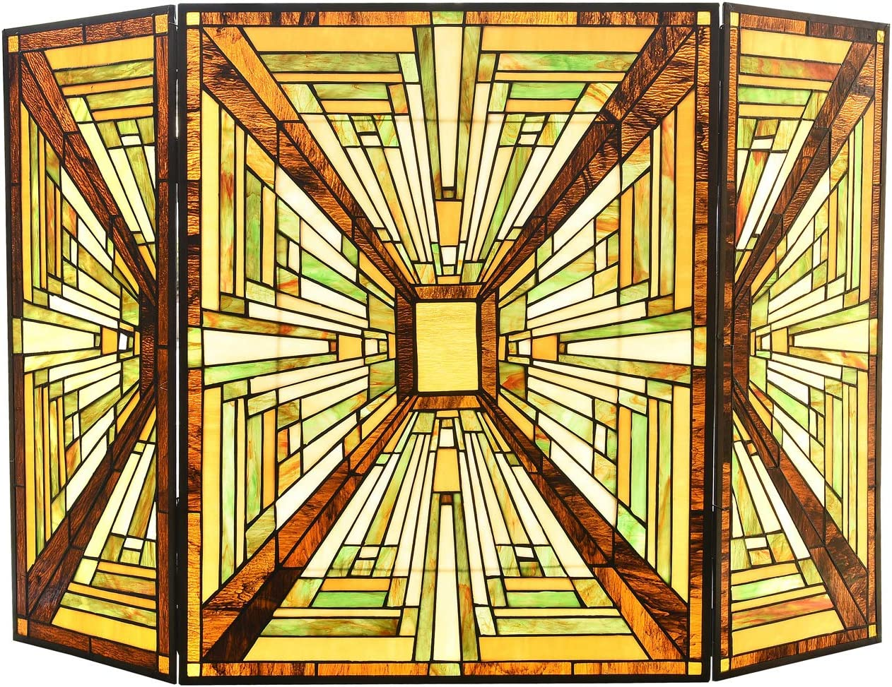 Capulina Tiffany Fireplace NEW Screen Finally popular brand Grate Stained H28 W44 Glass x