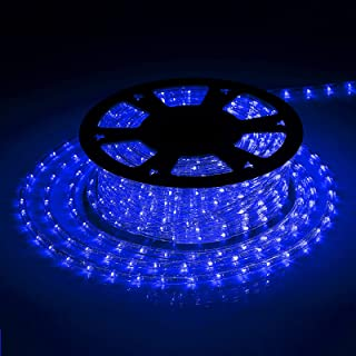 Tuanchuanrp Blue Waterproof Led Rope Lights,160Ft LED Strip Lights Outdoor Waterproof Decorative Lighting for Indoor/Outdo...
