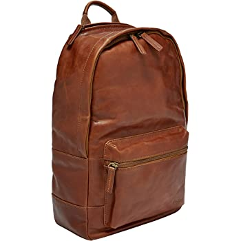 """Fossil Leather Backpack with 13"""" Laptop Compartment"""
