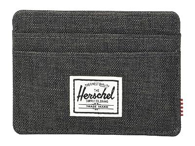 Herschel Supply Co. Charlie RFID (Black Crosshatch) Wallet Handbags