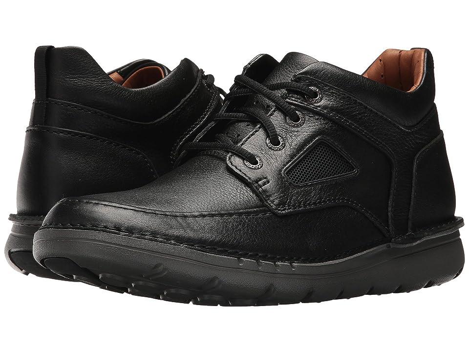 Clarks UnNature Mid (Black Leather) Men