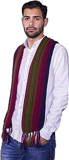 Raymis 100% Alpaca Wool Men´s Warm Scarf With Fringes