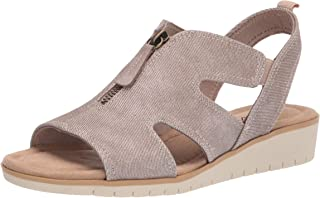 Easy Street Women's Wedge Sandal, Beige Linen, 6.5