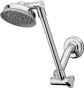 Waterpik JP-140 Rainfall Showerhead with Adjustable Arm, Chrome