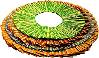GRABSKY Coin Rolls Wrappers 500 pcs Total, Assorted Bundle – Flat Tubular Striped Color Coded Durable Kraft Paper American Currency Tube Roll for Coins: 125 of Each: Pennies, Nickels, Dimes, Quarters