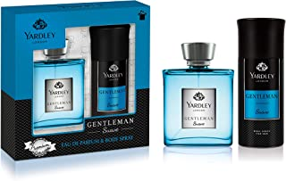 Yardley Gentleman Suave perfumed gift set, For Chivalrous man, Fragrance with Aromatic-Woody-Spicy notes, Eau De Parfum 10...