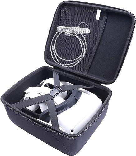 Voyage Étui Rigide Housse pour Oculus Quest 2 Casque de réalité virtuelle 64Go/256Go de Aenllosi (Black)