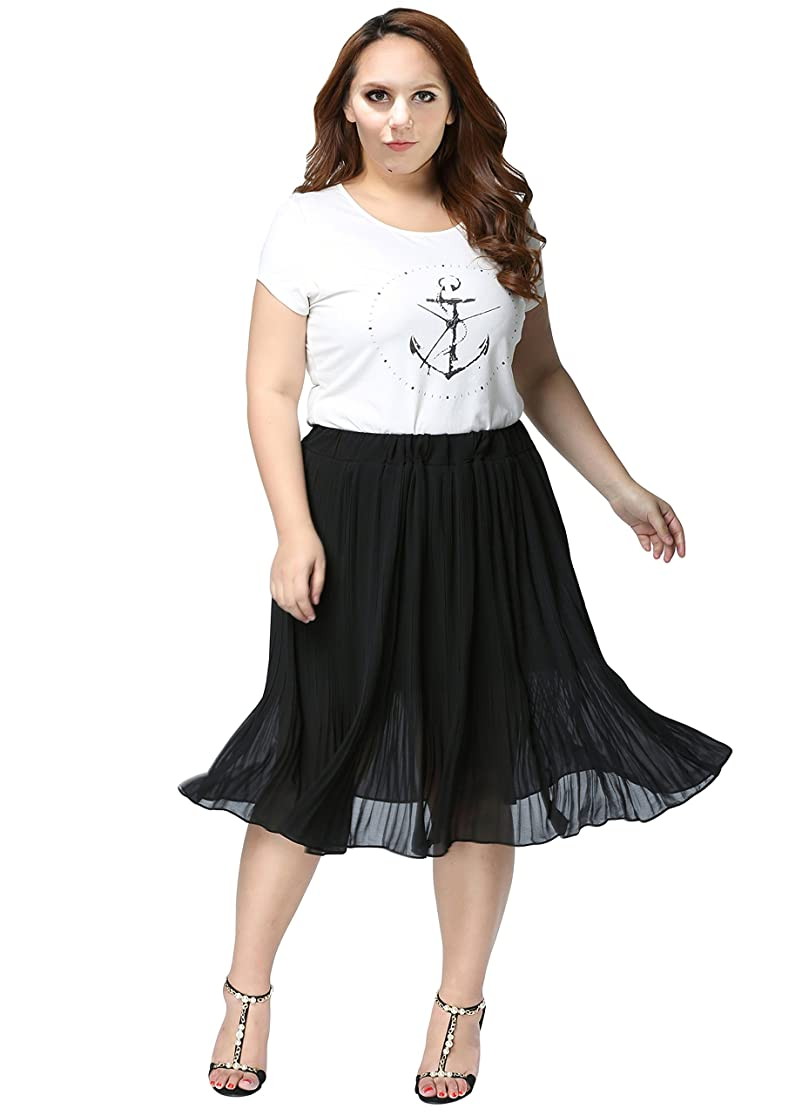 Philfril Women's Knee Length Skirt With Elastic Waistband (XX-Large) qdltbaqs7