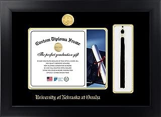 Celebration Frames University of Nebraska at Omaha 8½ x 11 Matte Black Finish Infinity Diploma with Tassel Box Frame