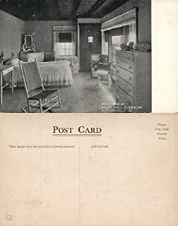 WERNERSVILLE PA BEDROOM OF GALEN HALL BUNGALOW ANTIQUE POSTCARD hotel