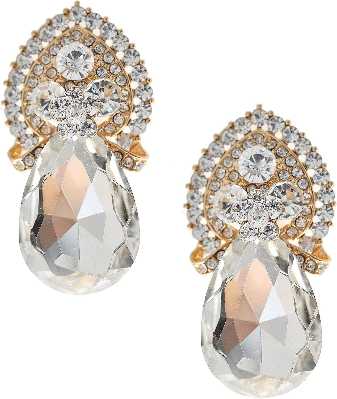 Spinningdaisy Gorgeous Dangle Tear Drop with Clip On earrings