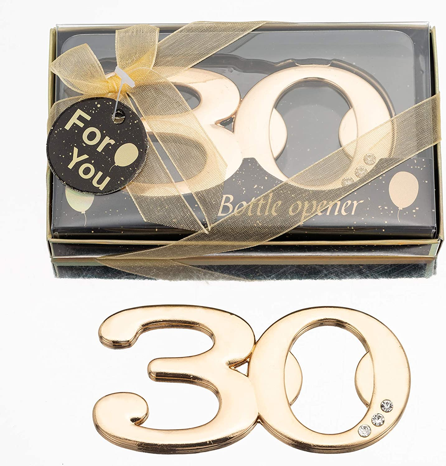 24PCS Latest 30 Super popular specialty store Bottle Inexpensive Openers for or 30th Party Favors Birthday