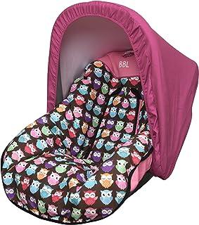 Babyline Estampado Búhos - Colchoneta para silla grupo 0, color rosa