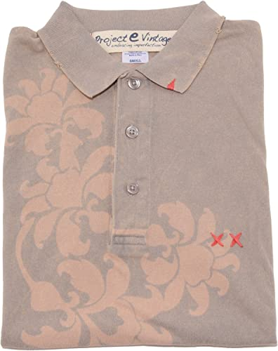 0153 Polo Project E Vintage hommes t-Shirt Hommes Whit Effect Vintage