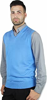 Blue Ocean Solid Color Sweater Vest