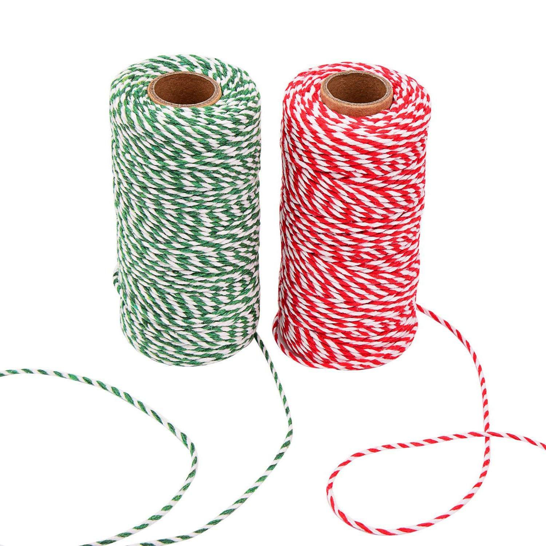 Cordón de cuerda de algodón para envolver regalos de Navidad ...