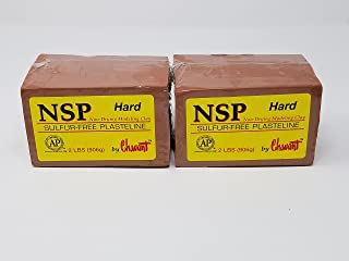 Chavant NSP HARD 4 Lbs Oil Based Sulfur-Free Sculpting Clay (Brown)