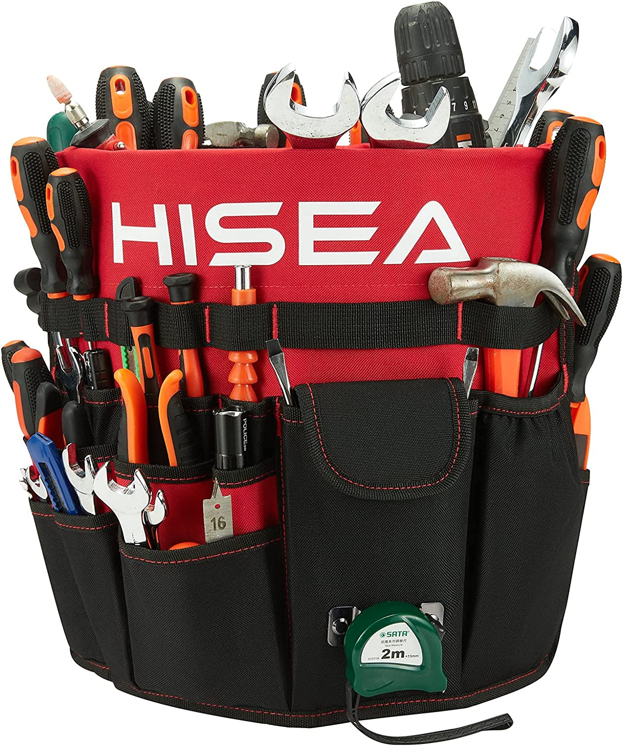 HISEA Bucket Tool Our shop OFFers the best service Organizer Garden Bag with 61 Fits Max 76% OFF Pockets