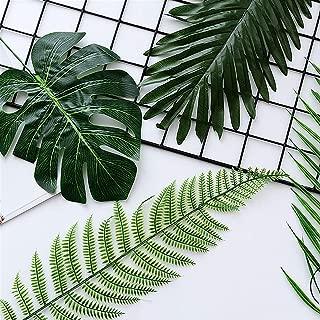 Ogquaton Hojas de Pino Hojas Verdes Hoja Artificial Flor de Seda Plantas Artificiales para la decoración del jardín de su casa