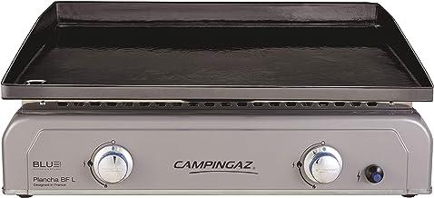 Campingaz Plancha Gaz BF L, 2 Brûleurs en Acier, Puissance 6 kW avec la Technologie Blue Flame, Plancha à Poser, Large Pla...