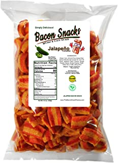 The Bacon Snack Factory - Jalapeño Bacon Flavor | Keto Friendly Low Carb per portion, Vegan Snacks, Vegetarian, Light & Cr...