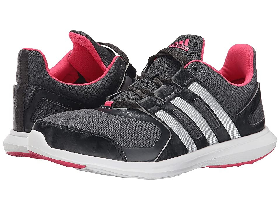 adidas Kids Hyperfast 2.0 K Print (Little Kid/Big Kid) (Dark Grey Heather/Silver Metallic/Carbon) Girls Shoes