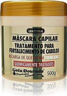 Máscara Capilar Quimicamente Tratados Linha Fortalecimento 500 Grande, Gota Dourada