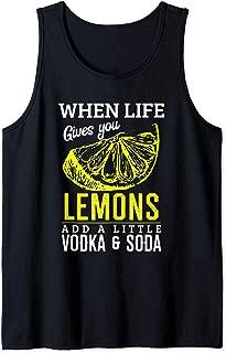 Vodka Soda Lemon Funny Alcohol Tank Top