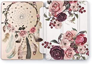 Wonder Wild Floral Dream Catcher iPad Cover Pro 9.7 inch Flowers Mini 2 3 4 Red Print Air 10.5 12.9 Apple Smart Magic Case Hard Stand 5th 6th Generation Design 2017 2018 Bouquet Purple Feather