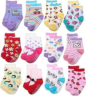 VBIGER 5//10 Pairs Toddler Girl Cute Socks Cotton Warm No-slip Socks Aged 3-5 /& Aged 3-7