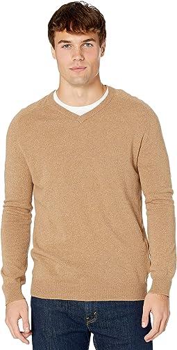 Saddle V-Neck Sweater