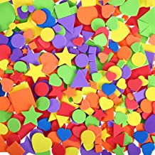 1500 Pieces Self-Adhesive Foam Stickers Geometry Foam Stickers Mini EVA Stickers Colorful Foam Stickers - Circle, Square, ...